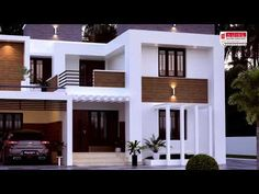 House Front Wall Design, Duplex House Design, Simple House Design, Modern House Design, Model House Plan, House Plans, Home Building Design, Building A House, Beautiful Homes
