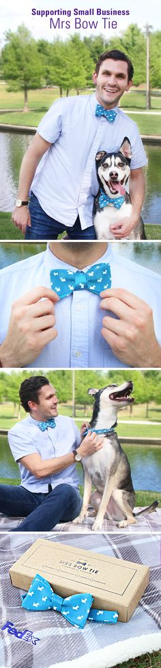 Shopping for dog dads just got simple (and creative)! Celebrate fathers who know how to accessorize with a gift from our customer Mrs Bow Tie and you'll have them shaking their tails with joy in no time.
