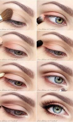 10 Hottest Spring Makeup Ideas for a Fresh Face: #3. Spring Eye Makeup Idea – Peach Smokey Eye