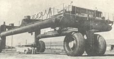 The vehicle used by the US Navy to pull the smaller types of vessels on land