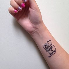 """Pin for Later: 23 Song Lyric Tattoos That Will Inspire Your Music-Loving Soul All You Need is Love """"All you need is love."""""""