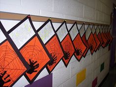 Students can write a poem (like our fall poem) and create the spider and web