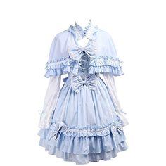 Partiss Women's Cape Ruffles Bows Classic Lolita Dress XX... http://www.amazon.com/dp/B01EFGWDAE/ref=cm_sw_r_pi_dp_sSxhxb1G2WCZ1