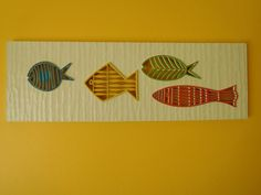 Mid-Century Modern Large Syroco MOD FISH Wall hanging Vintage 1963 Retro Art