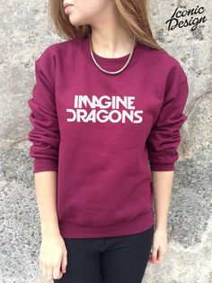 Imagine Dragons Band Jumper Top Sweater Music by TheIconicDesignCo