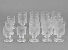 Glass set, 14 pcs