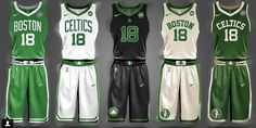 These spectacular fan-made NBA jersey concepts should be the actual uniforms Nba Uniforms, Sports Uniforms, Basketball Uniforms, Basketball Jersey, Basketball Stuff, Basketball Court, Boston Celtics, Espn College Football, Sports Jersey Design