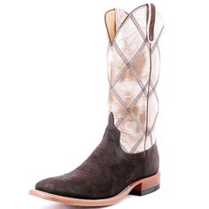 BootDaddy Collection with Anderson Bean Chocolate Buffed Elephant Cowboy Boots -- Exclusive to PFI, these elephant leather boots are a rare (and tough!) treat in cowboy boots! (Humanely harvested leather)