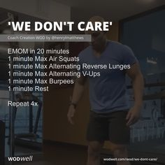 Crossfit At Home, Crossfit Wods, Emom Workout, Conditioning Workouts, Air Squats, At Home Workouts, Weight Workouts, I Want To Work, Fitness Nutrition