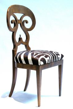 """Biedermeier """"Double Scroll"""" Side Chair   From a unique collection of antique and modern side chairs at https://www.1stdibs.com/furniture/seating/side-chairs/"""