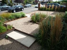 steel edging and gravel