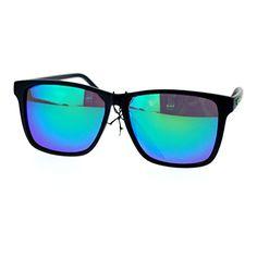 687d0c6f8b Kush Mens Matte Black Gangaster mirrored Mirror Lens Thin Plastic  Sunglasses Blue