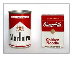 marlboro filtered soup or campbells chicken noodle cigarettes ♥ Andy Warhol, Funny Memes, Hilarious, Boggle, Humor Grafico, Branding, Packaging Design, Product Packaging, Food Packaging