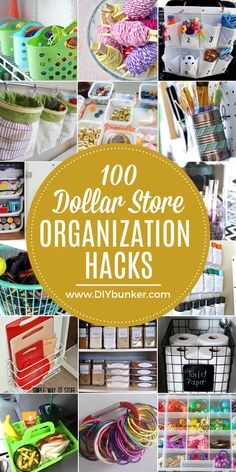 Get organized on the cheap with these dollar store organization and storage ideas for your home and car. Organize your kitchen, closet, bathroom, and more. Paint Organization, Paint Storage, Home Organization Hacks, Organizing Your Home, Smart Storage, Organising, Closet Organization, Storage Ideas, Dollar Store Crafts