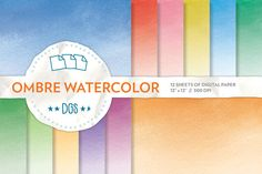 Check out Ombre Watercolor Backgrounds by The Digital Goodness Shop on Creative Market