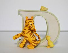 """Classic Winnie the Pooh Piglet Alphabet Letter """"D"""" Michel & Co. D for Duck, Winnie the Pooh Figurines Disney - Edit Listing - Etsy Winnie The Pooh Figurines, Pooh Bear, Vintage Home Decor, Bookends, Alphabet, Amp, Lettering, Classic, Disney"""