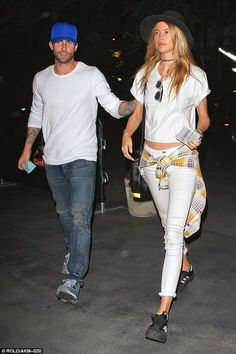 Behati Prinsloo & Adam Levine Head to a Lakers Game