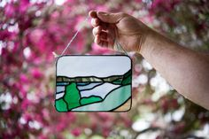 Window Ledge, Stained Glass Suncatchers, Rectangle Shape, Glass Panels, Landscape, Handmade Gifts, Fun, Inspiration, Etsy
