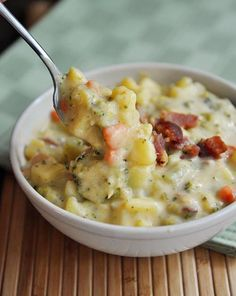 Broccoli Cheese and Bacon Soup