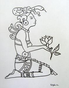 Original Drawing of Ixchel, Maya Goddess. $15.00, via Etsy.