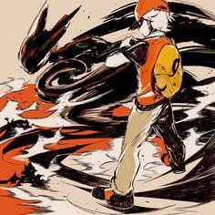 Pokemon Charmander, Pokemon Red, Pokemon Funny, Pokemon Stuff, Pokemon Human Form, Lugia, Game Art, Illustration Art, Illustrations