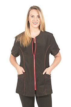 Ladybird Line Red Zipper Black Pet Grooming Jacket Estheticians Water  Repellent Ideal for Pet Dog Groomer dd040791cec7