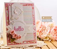 Card Making Ideas by Becca Feeken using Waltzingmouse Stamps Pretty Circle and Hello Die