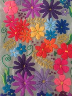 Nine Flower Sampler 1 - Edmar kit Brazilian embroidery KIT, Cream Fabric - Embroidery Design Guide Basic Embroidery Stitches, Crewel Embroidery, Embroidery Needles, Cross Stitch Embroidery, Embroidery Patterns, Yarn Crafts, Sewing Crafts, Bordado Floral, Mexican Embroidery