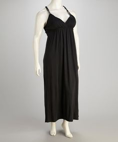 Take a look at this Black Plus-Size Maxi Dress by Beestango on #zulily today!