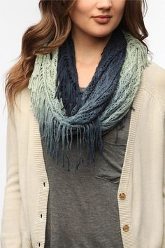 Staring At Stars Ombre Net Eternity Scarf   #UrbanOutfitters