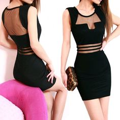 New Sexy Fashion Womens Bodycon Slim Fit Cocktail Party Clubwear Bandage Dress