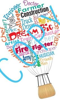 """This is a great poster to use to inspire students to """"Dream Big"""" and realize that anything is possible. It also lists a variety of careers that are perfect for counselors and teachers to discuss college and career readiness."""
