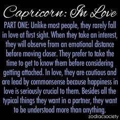 Capricorn: In Love, Part One