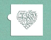 Love Saying Cookie and Craft Stencil