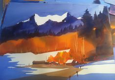 One of Frank Francese's vibrant watercolors. E arlier this month, I enjoyed a four-day watercolor workshop with Frank Francese ht. Watercolor Artists, Watercolour Painting, Watercolors, Bing Images, Vibrant, Mountains, Passion, Coffee, Kaffee