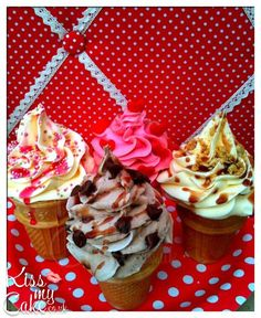 'Ice cream cone' Cupcakes by Kissmycake.co.uk