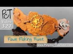 Polymer Clay Faux Flaking Rust Tutorial.  Click here to watch intro clip: http://www.beadsandbeading.com/blog/faux-flaking-rust-polymer-clay-tutorials-vol-056/16558/