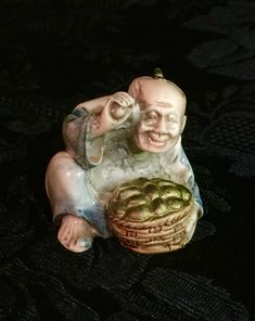 https://www.etsy.com/shop/CoCoBlueTreasures #googleplus #bing #yahoo #google......... n sale Chinese netsuke figurine carved resin asian farmer hand crafted mid century oriental collectibles