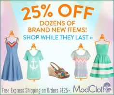 ModCloth Summer Party Prep Sale ♥ Click through to learn more!