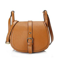 Yasmin Genuine Leather Saddle Bag (Y2016 Brown)