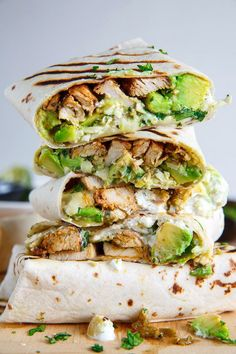 Chicken and avocado burritos // Pinned by Dauphine Magazine x Castlefield - Curated by Castlefield Bridal & Branding Atelier and delivering the ultimate experience for the haute couture connoisseur! Visit www.dauphinemagazine.com, @dauphinemagazine on Instagram, and @dauphinemag on Pinterest • Visit Castlefield: www.castlefield.co and @ castlefieldco on Instagram / Luxury, fashion, weddings, bridal style, décor, travel, art, design, jewelry, photography, beauty