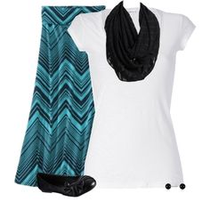 """""""TealBlack#2"""" by samanthahac on Polyvore...love the skirt"""