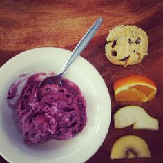 Finishing the working week with banana blueberry nice cream, fresh fruit and a coconut currant biscuit Food Kids, Nice Cream, Cooking With Kids, Afternoon Tea, Fresh Fruit, Kids Meals, Real Food Recipes, Sugar Free, Blueberry