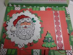 #christmascard #card #papercrafting #cardmaking #stamping #winter #christmas #santa #santaclaus #christmastree