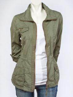 Studded Anorak Jacket - Tops Anorak Jacket, Sweater Jacket, Blazer Jacket, Military Jacket, Style Me, Vanity, Clothes For Women, Denim, Blazers