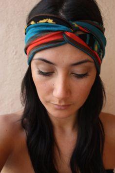 Twist HeadBand Aztec print