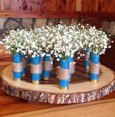 Shotgun shell boutonnieres for a rustic wedding by TinasdesignsCrafts on Etsy https://www.etsy.com/listing/385225466/shotgun-shell-boutonnieres-for-a-rustic