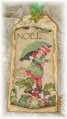 love this...christmas tag..