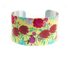 Cuff bracelet colourful Summer wide aluminium by DeCumiDesigns, £19.50