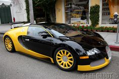 Bugatti Veyron. The fastest production car on the planet. Modified version has reached 257 mph. And it is gorgeous inside!